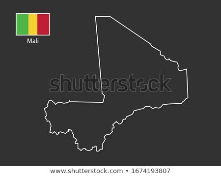 силуэта карта Мали знак белый Сток-фото © mayboro