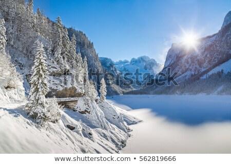 Sí útvonal hó jég mászik kilátás Stock fotó © slunicko