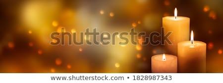 három · aroma · gyertyák · aromás · üveg · tűz - stock fotó © IngridsI
