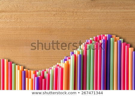 Stock photo: What goes up must come down concept on wood