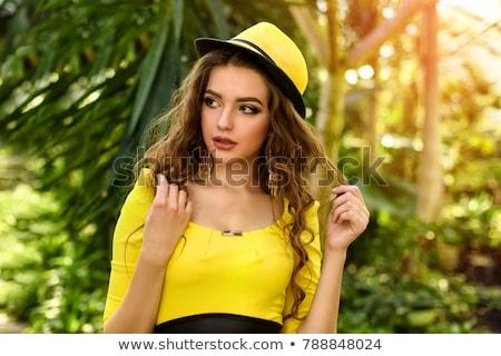 mooie · vrouw · fabelachtig · weelderig · kapsel · pluizig · vrouw - stockfoto © majdansky