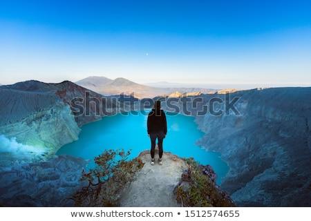 bánya · Indonézia · tó · vulkán · kráter · java - stock fotó © johnnychaos