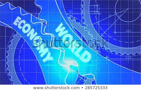 グローバル 経済 青写真 スタイル メカニズム ストックフォト © tashatuvango