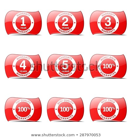 Warranty Guarantee Seal Red Vector ButtonIcon Design Set Stock photo © rizwanali3d