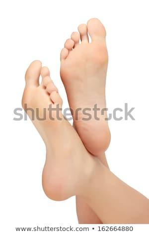 Donna piedi isolato bianco care umani Foto d'archivio © leventegyori