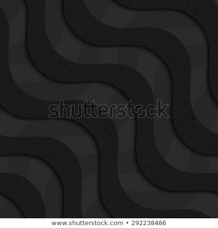 Fekete mintázott műanyag átló hullámok réteges Stock fotó © Zebra-Finch