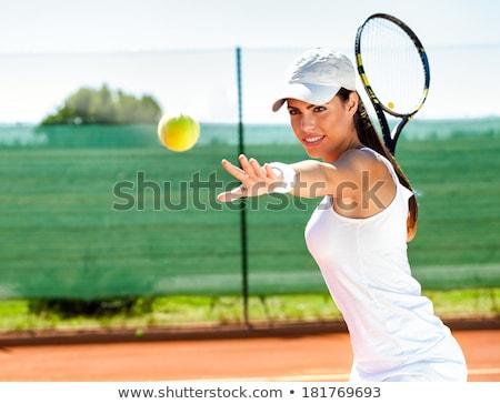 若い女性 演奏 テニス 女性 フィットネス 列車 ストックフォト © boggy