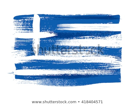 Greek flag and Europe flag Stock photo © pixpack