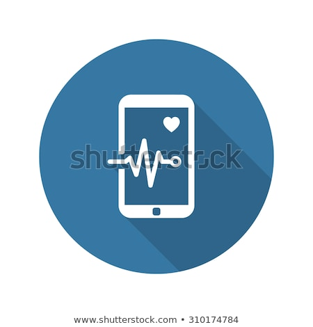 Mobile Monitoring and Medical Services Icon. Flat Design. Long S Stock photo © WaD