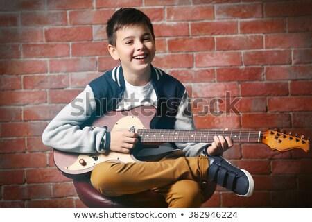 solido · blues · rock · rotolare · chitarra · nero - foto d'archivio © bigalbaloo