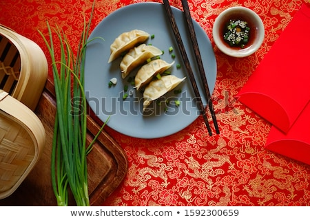 Asian Chinese dish dumplings stock photo © szefei