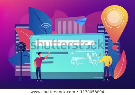 NFC Sign Violet Vector Icon Design Stock photo © rizwanali3d