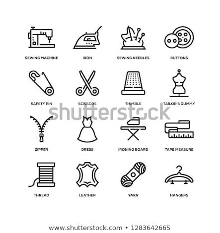 Tools handwerk knoppen draad naalden haken Stockfoto © koldunov