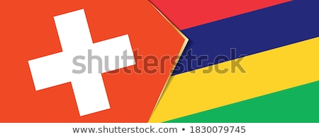 Switzerland and Mauritius Flags Stock photo © Istanbul2009