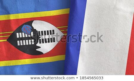 Frankrijk Swaziland vlaggen puzzel geïsoleerd witte Stockfoto © Istanbul2009