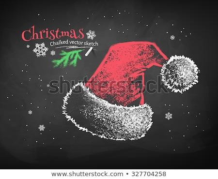 grunge · inverno · flocos · de · neve · neve · montanha - foto stock © sonya_illustrations