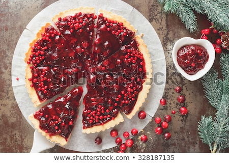 Delicious cranberry tart Stock photo © mady70