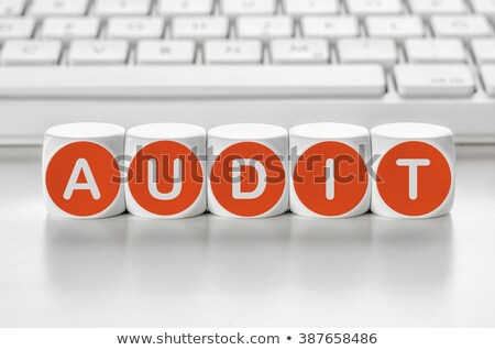 Letter dice in front of a keyboard - Audit Stock photo © Zerbor