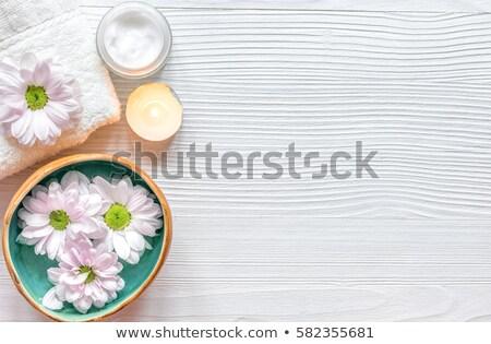 Stock fotó: Egészségügy · fürdő · test · szépség · gyertya · bőr