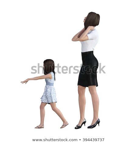 anya · lánygyermek · kölcsönhatás · lány · magyaráz · valami - stock fotó © kentoh