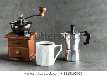Moka express coffee pot and grinder Stock photo © sumners