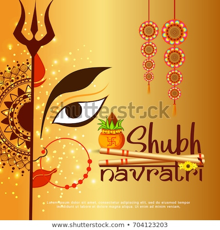 abstract artistic navratra kalash stock photo © pathakdesigner