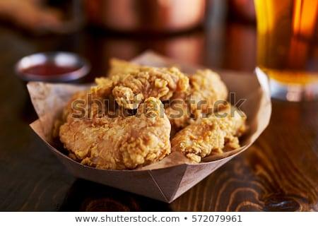 хрустящий куриные Салат продовольствие подробность Сток-фото © Digifoodstock
