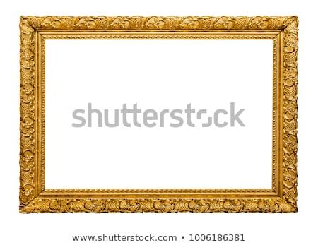 古い 金 フレーム 孤立した 白 壁 ストックフォト © plasticrobot