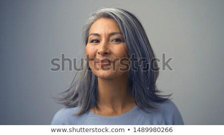 Gyengéd szép női portré csukott szemmel élvezi Stock fotó © Anna_Om