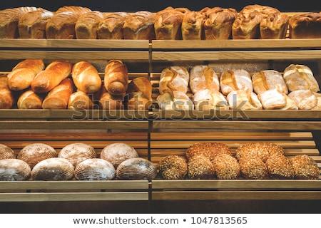 различный продовольствие шельфа иллюстрация фон Сток-фото © bluering