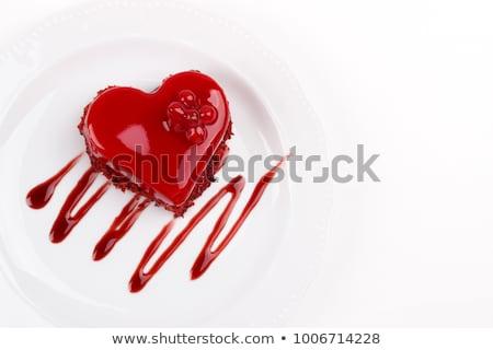Heart shape and red berries Stock photo © hraska