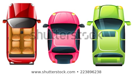 A topview of the parked pink car Stock photo © bluering