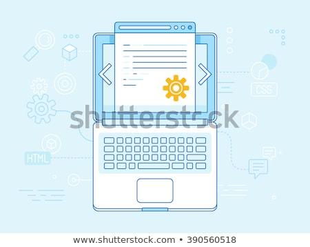 Cms sleutel business computer internet Stockfoto © Oakozhan
