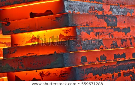 Hot slab inside of steel plant Stock photo © mady70