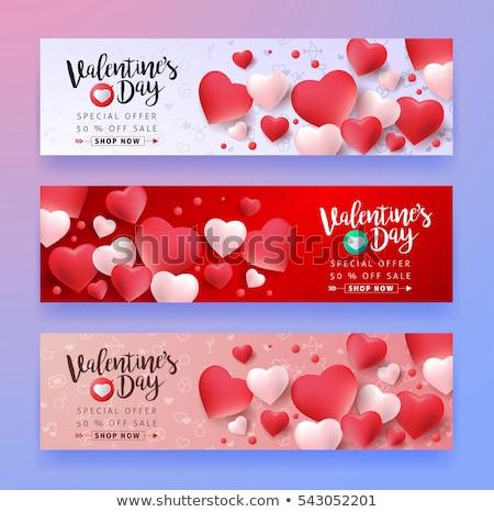 valentin · nap · vektor · szalag · különleges · terv · esküvő - stock fotó © kali