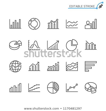 Analitik grafik ikon parlak düğme dizayn Stok fotoğraf © angelp