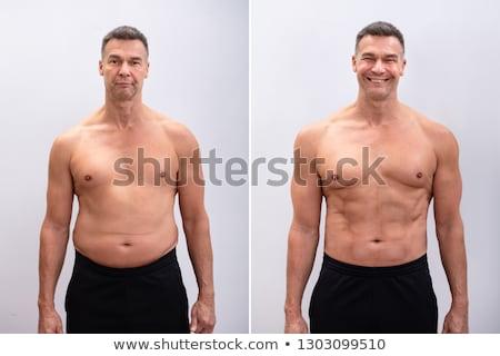 jóvenes · gordo · dieta · alimentos · hombre · cuerpo - foto stock © adrenalina