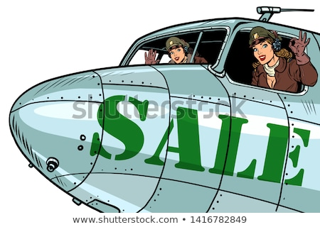 Cartoon retro bomber Stock photo © mechanik