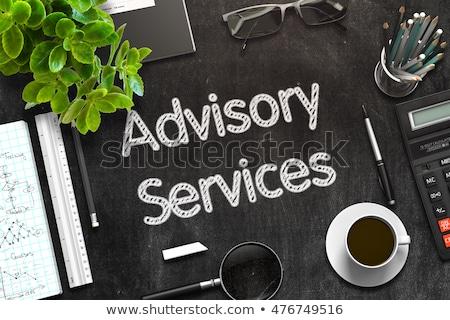 Black Chalkboard with Advisory Services. 3D Rendering. Stock photo © tashatuvango