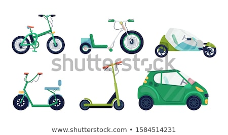 illustration of two bicycles stock photo © curiosity
