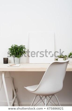 stijlvol · werkruimte · computer · home · studio · wazig - stockfoto © manera