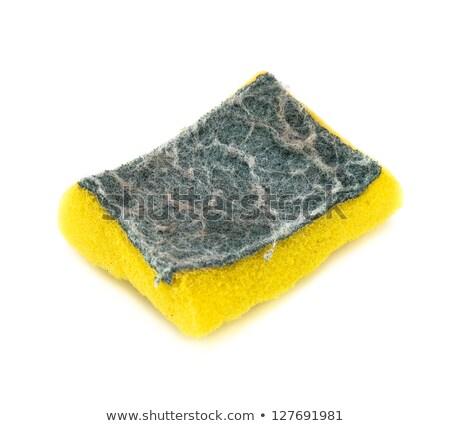 amarelo · esponja · branco - foto stock © maryvalery