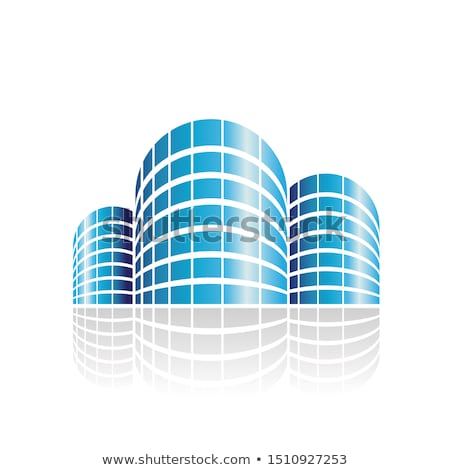 Abstract Symbol of Shiny Cylindrical Residences Icon Stock photo © cidepix