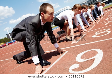 Successful Business Person Competing Concept Stock photo © Krisdog