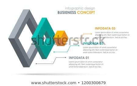 Vektor infografika rétegek sablon öt anyag Stock fotó © orson