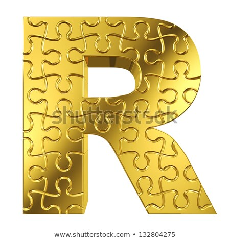 puzzle letters of the alphabet r Stock photo © Olena