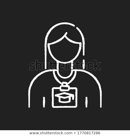 Szakmai gyakorlat firka ikonok tábla kézzel írott felirat Stock fotó © tashatuvango