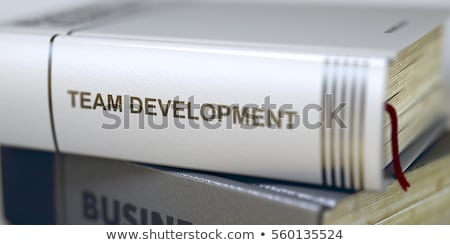 Team Building. Book Title on the Spine. 3D. Stock photo © tashatuvango