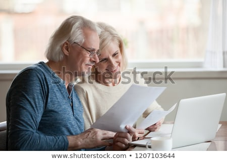 Two women reading a letter Stock photo © IS2
