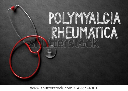 Chalkboard with Polymyalgia Rheumatica. 3D Illustration. Stock photo © tashatuvango